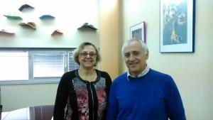 Con dr Joaquín Gairin. UAB España