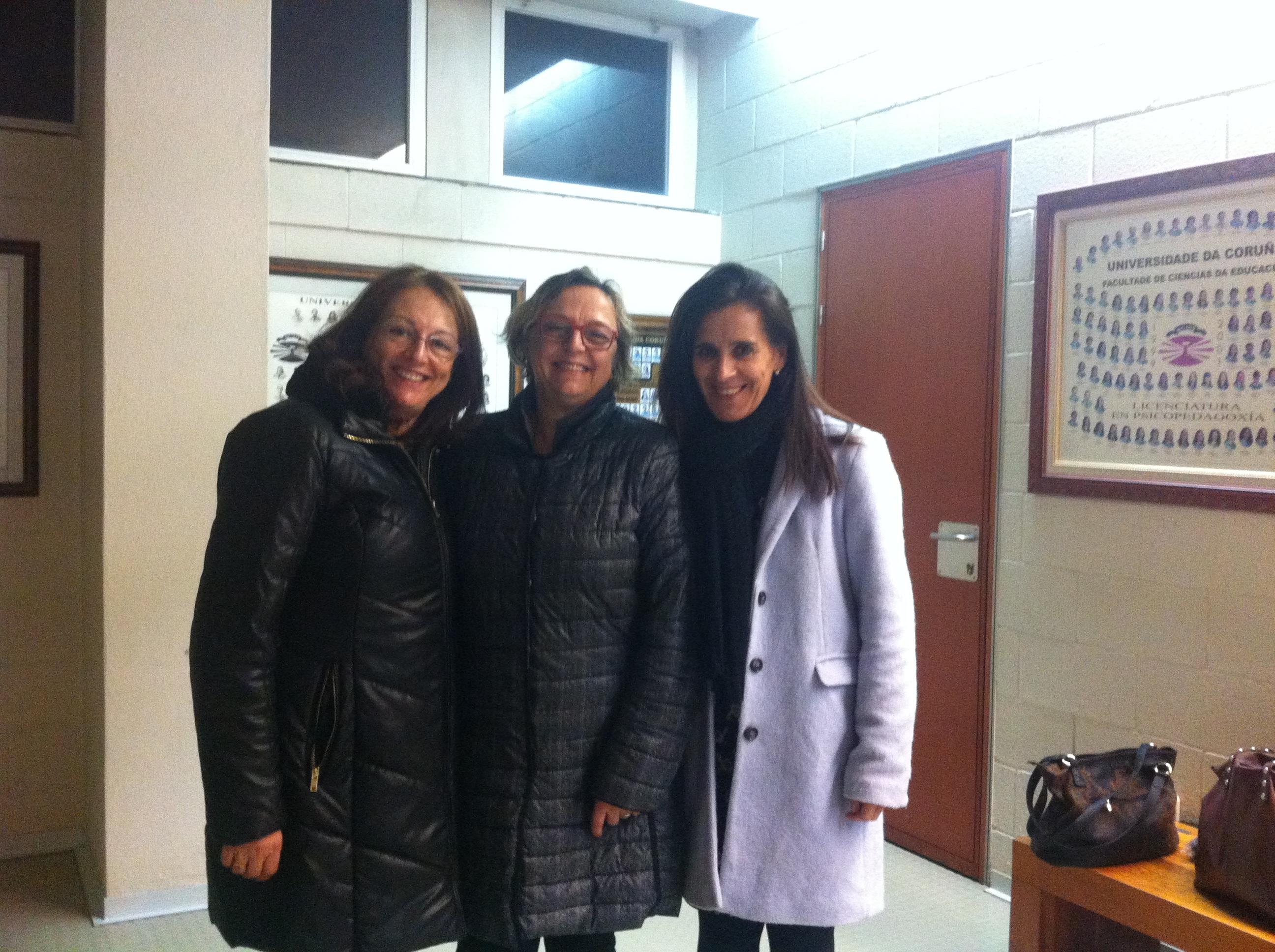Directora de TASC_UP en U de La Coruña con COn  Dra.María Josefa Iglesias  y Dra María LUisa Rodicio